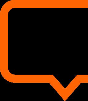 orange speech bubble - maxemus Digital Marketing Services