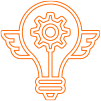 lightbulb with wing icon - maxemus Digital Marketing