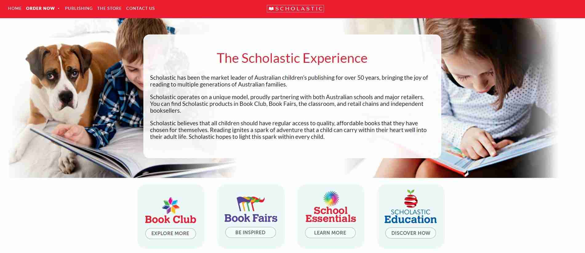 Scholastic - website