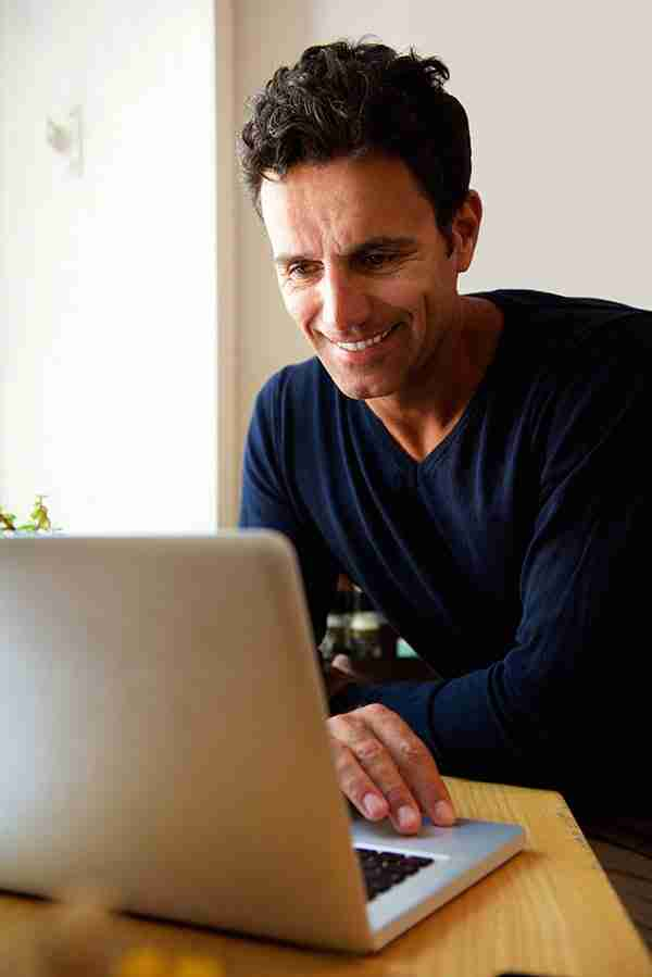 businessman owrking on a laptop