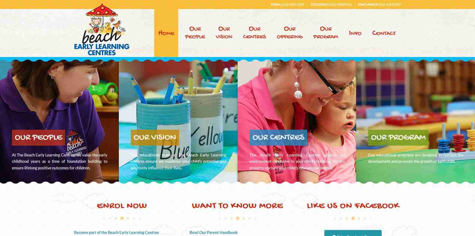 Beach Early Learning Centres - website
