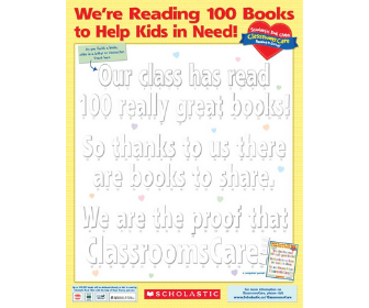 """Scholastic """"Classrooms Care"""" poster"""