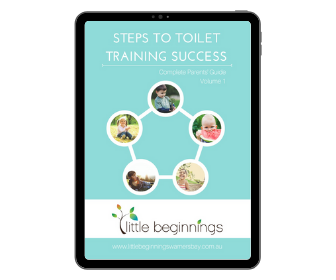 """Little Beginnings """"Steps to Toilet Training Success"""" cover"""